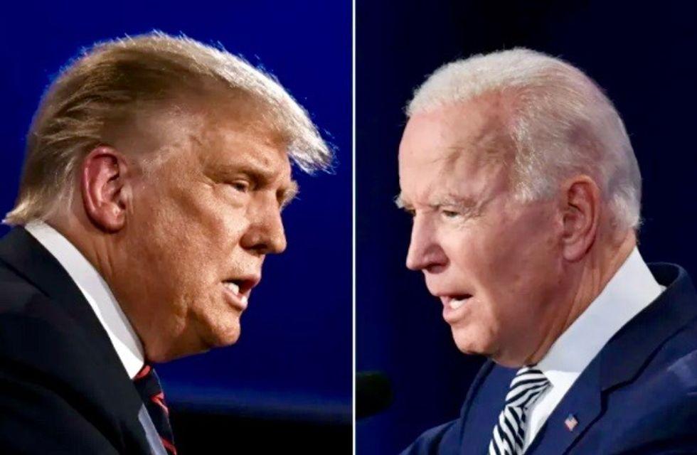Trump, Biden duel in TV town halls, but COVID-19 disrupts campaign
