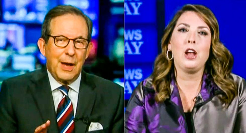 Chris Wallace battles GOP chairwoman over laptop smear: 'Do you have any proof Joe Biden took one penny?'