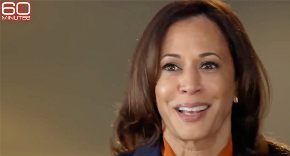 Watch Kamala Harris laugh out loud when 60 Minutes asks her if Trump is racist
