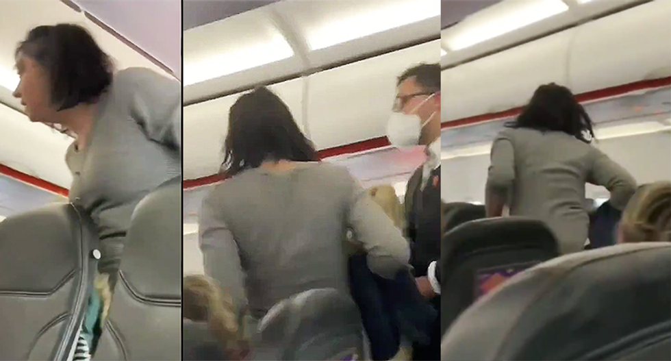 'Everybody dies!': Woman screams while being kicked off flight for refusing mask