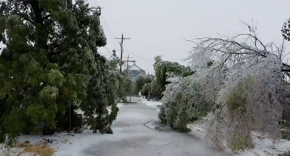 Shocking photos and videos detail horrific scene after two-day ice storm in Oklahoma, Kansas and Texas