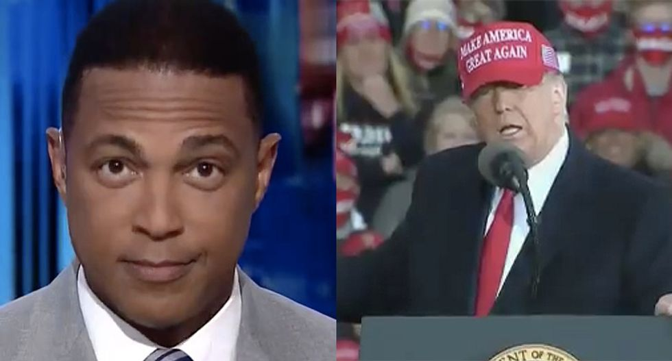 'You're free to go': CNN's Lemon tells Trump after president spends weeks complaining about going to rallies