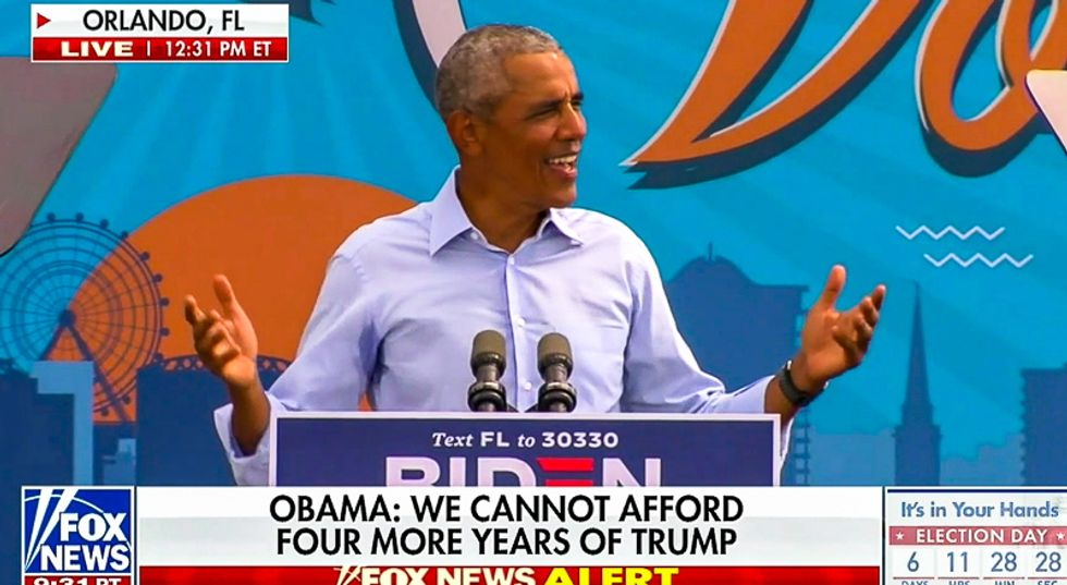 'Fake speech': Trump rages at live television as Fox News gives Obama 30 minutes to rip president