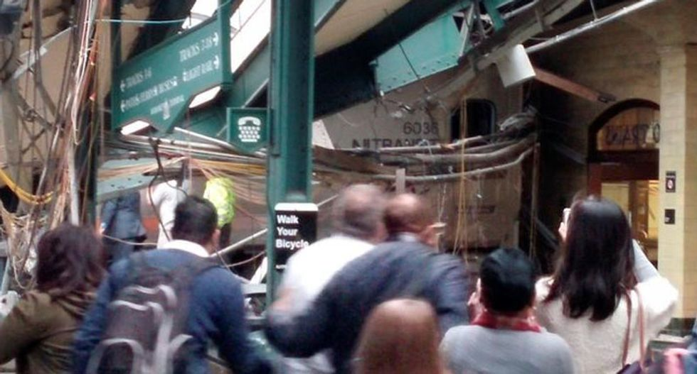 At least one killed and scores injured in New Jersey train crash
