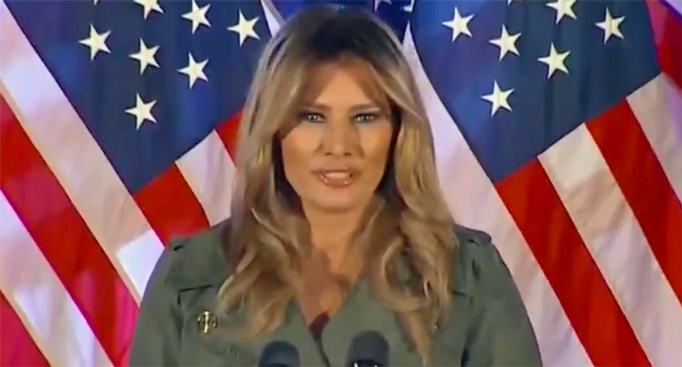 Melania Trump turns her back on #BeBest campaign -- and praises husband's insane tweets at MAGA rally