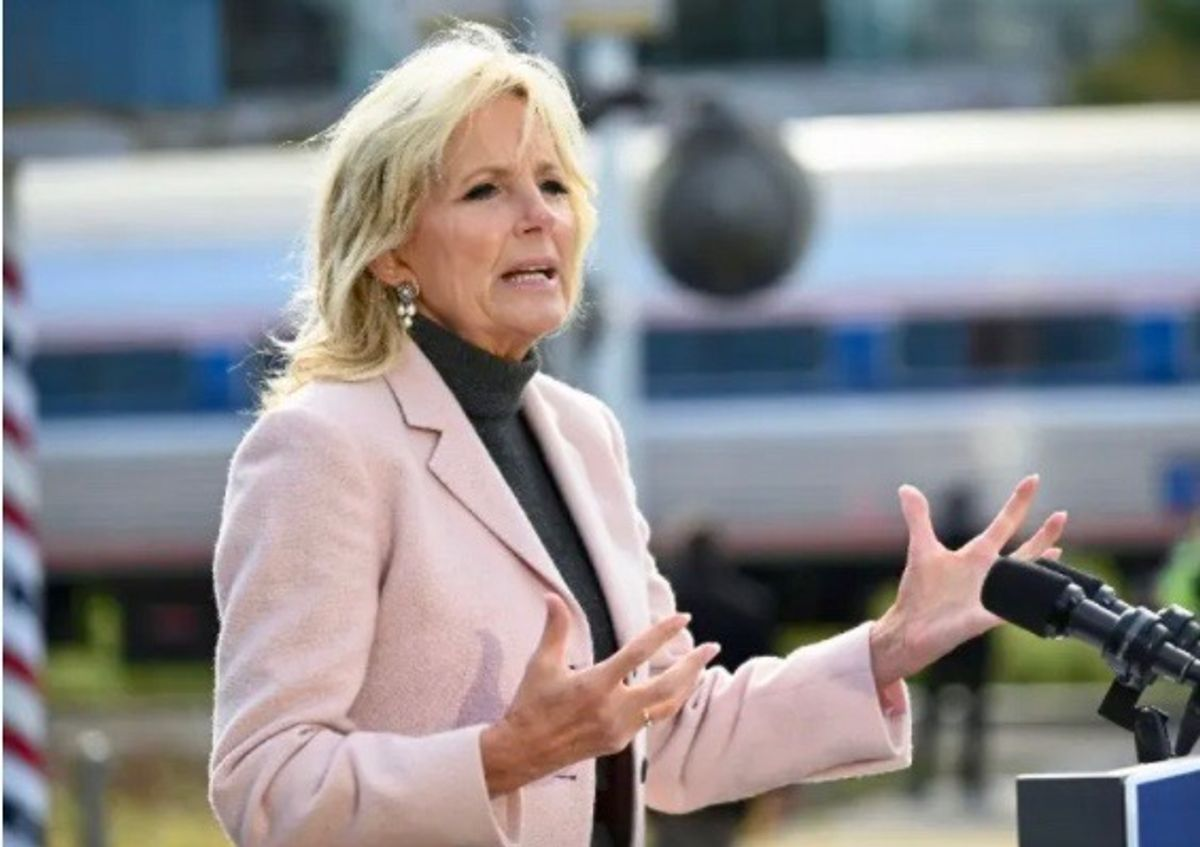 Conservatives lose their minds after Dr. Jill Biden wears tights with designs on them