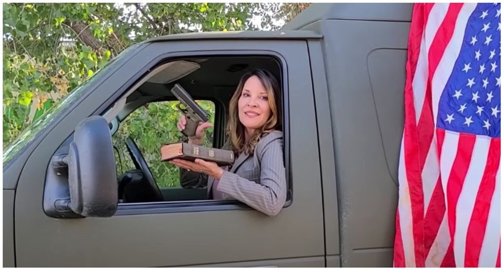 Idaho Lt Governor flashes gun and Bible in video where she rejects state's lockdown measures
