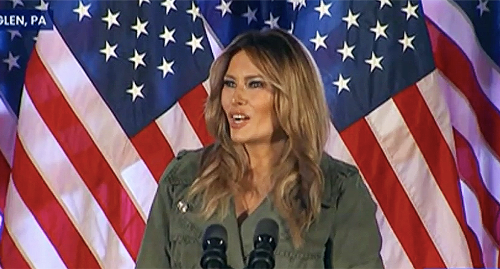 'Owns stock in coronavirus': Melania Trump mocked for being 'only person not wearing a mask' at voting site