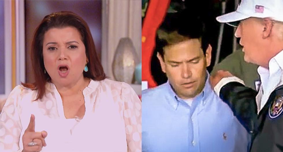 'You shallow little hypocrite': The View's Ana Navarro shreds Marco Rubio for mocking Biden-Texas bus assault