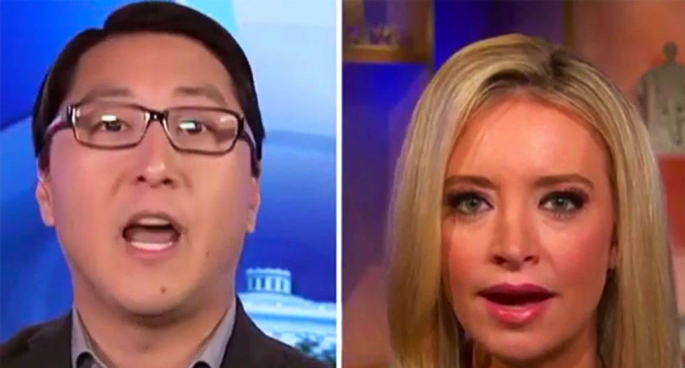 RNC's Kayleigh McEnany has a furious meltdown after former GOPer points out all the Americans killed by guns