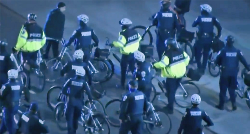 WATCH: Police move in as protesters surround the White House