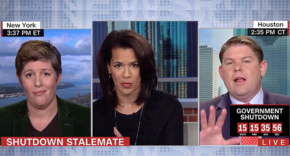 Ben Ferguson loses it when CNN pundit calls him out for using Trump's border wall lies