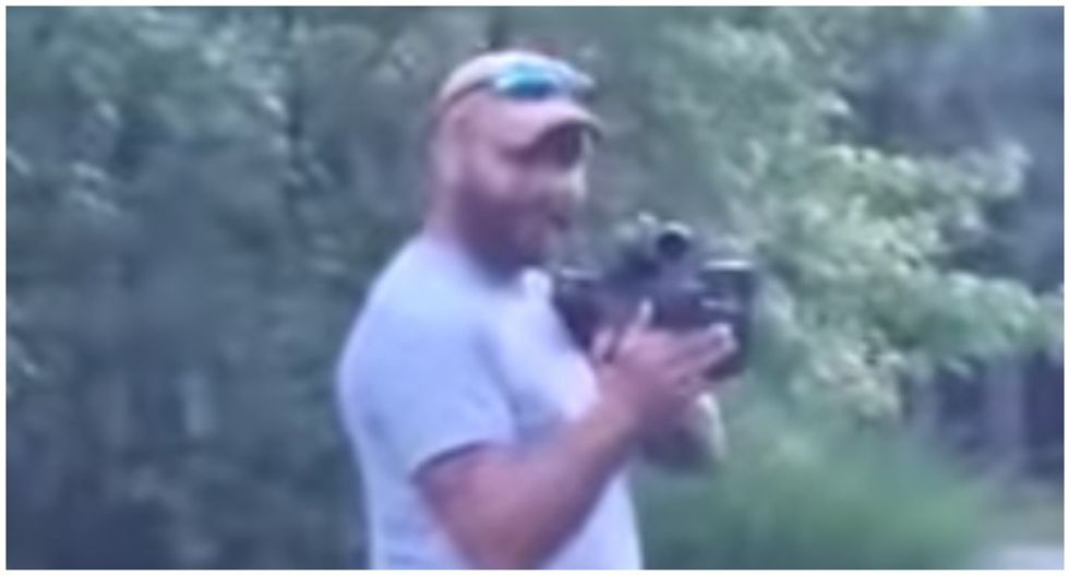 WATCH: White man brandishes rifle as he accuses Black bikers of being on 'private' road