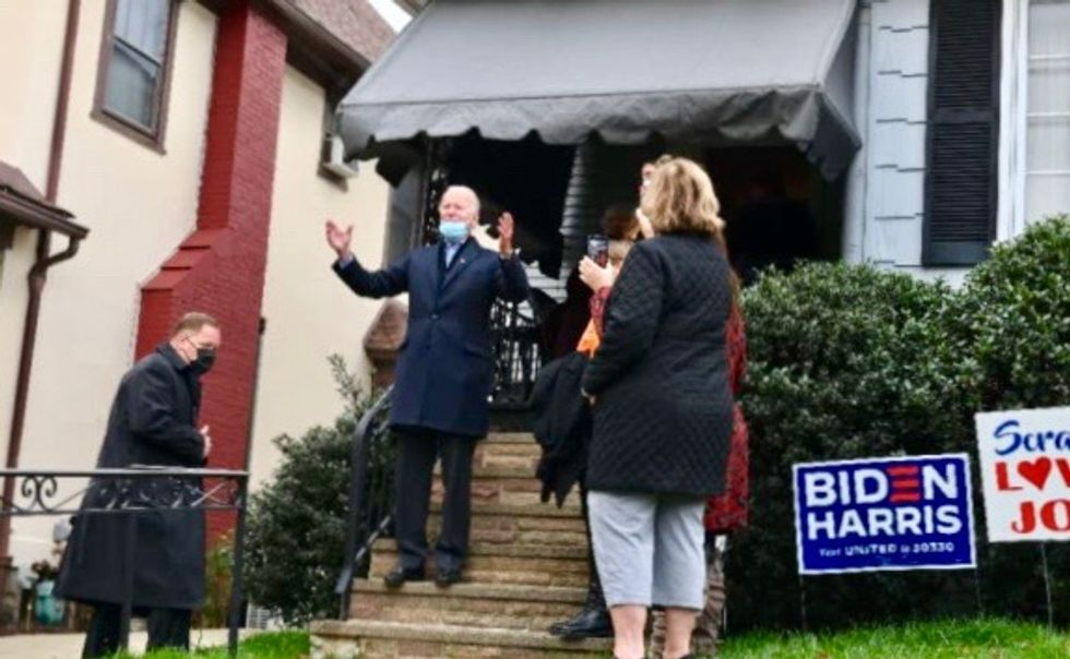 'With the Grace of God:' Joe Biden signs childhood home wall on election day