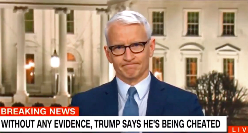 Anderson Cooper declares Trump is 'like an obese turtle on his back flailing in the hot sun'