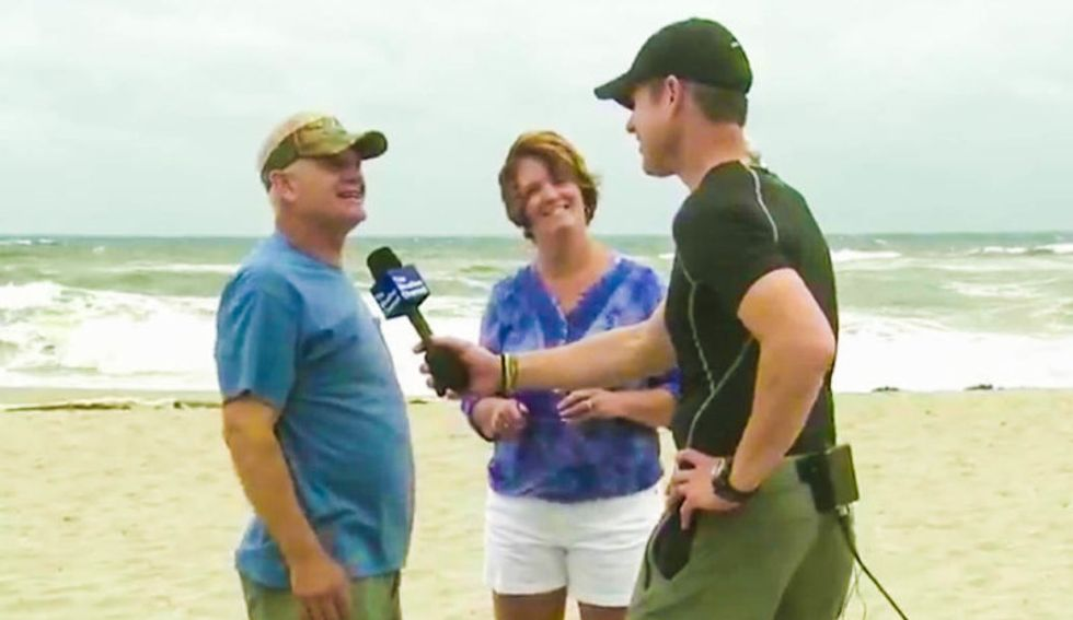'Just another adventure!': Wisconsin snowbirds defy Hurricane Matthew warnings to stay at the beach
