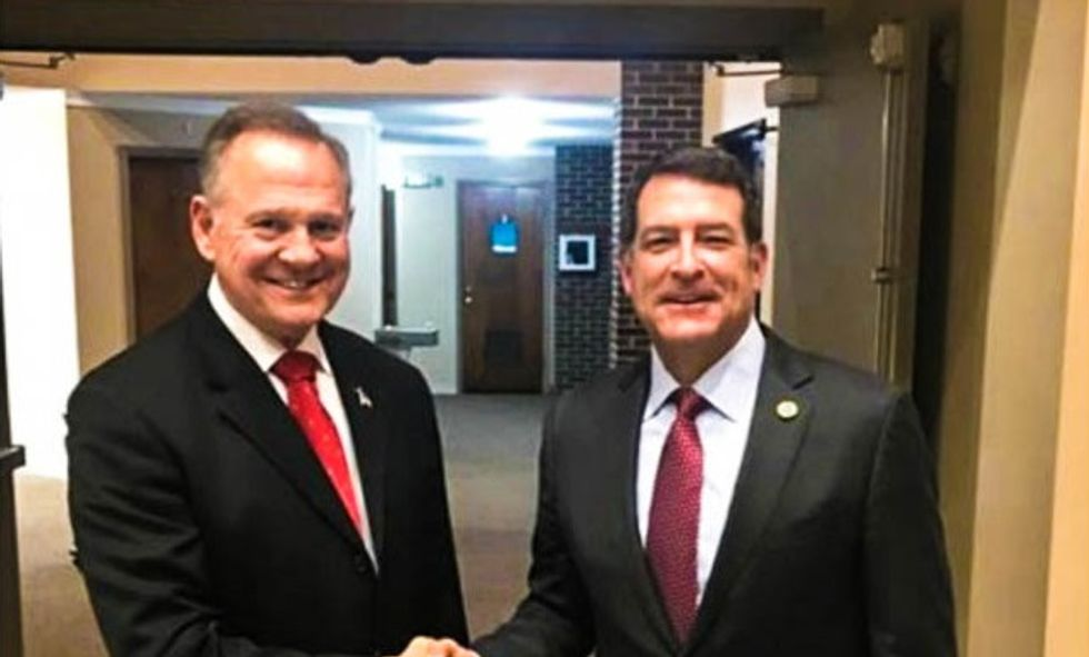 BUSTED: GOP candidate scrambles to delete social media posts about being a 'proud friend' of Roy Moore