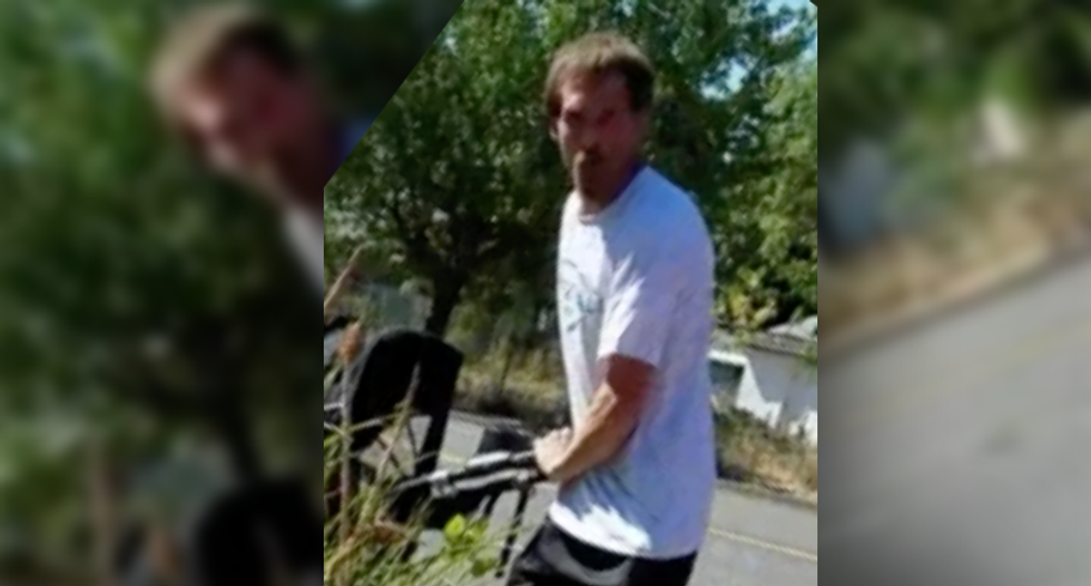 WATCH: Unhinged white man with a stroller goes bonkers over 'beaners' doing construction work