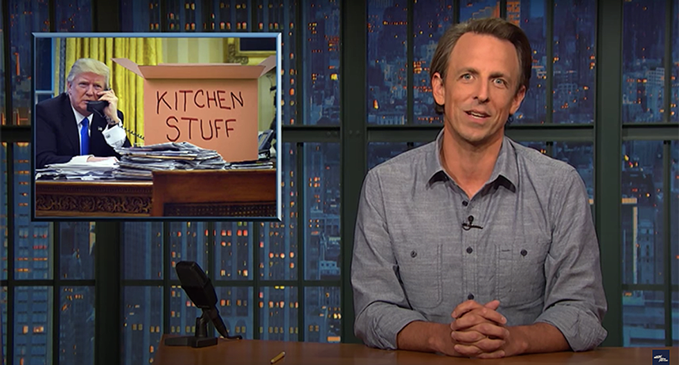 Seth Meyers says Trump is so checked out he sounds like he's already packing his stuff