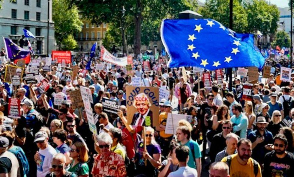 'Stop the coup!': Protests across UK at Boris Johnson's parliament shutdown