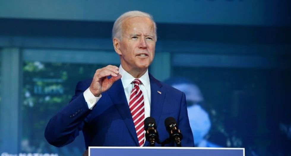Biden campaign condemns Trump false victory claim as 'naked effort to take away the democratic rights of American citizens'