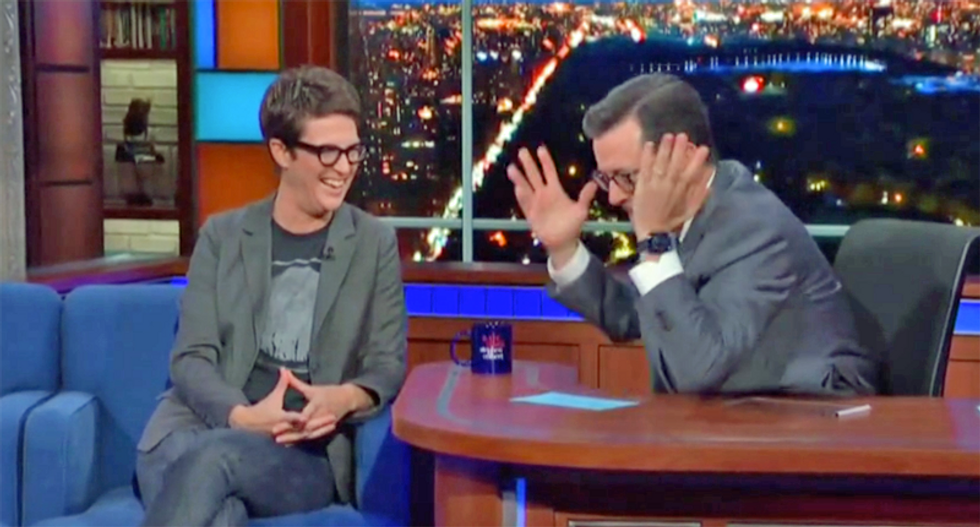Maddow explained Ukraine scandal to Stephen Colbert: Trump 'is going to get impeached for it'