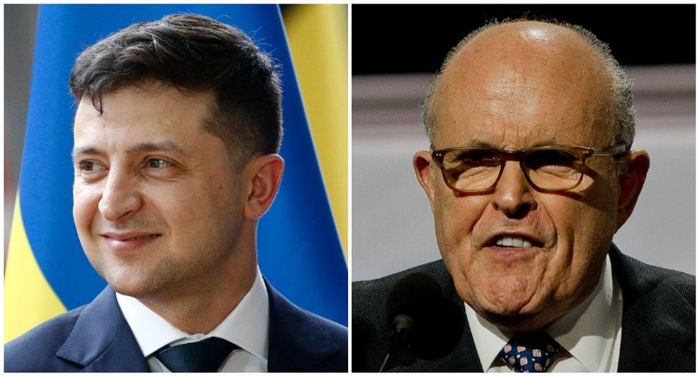 Ukrainian president tells US senators that he plans to avoid Rudy Giuliani: report
