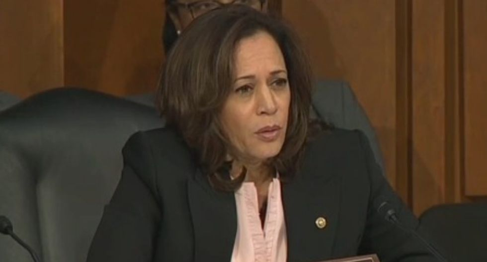 Kamala Harris shreds AG nominee William Barr over his support for Trump's wall