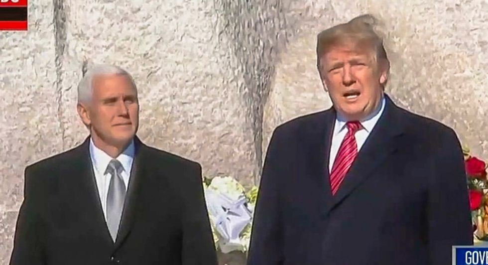 Trump makes surprise MLK Day visit to King's memorial -- and then leaves after less than 2 minutes