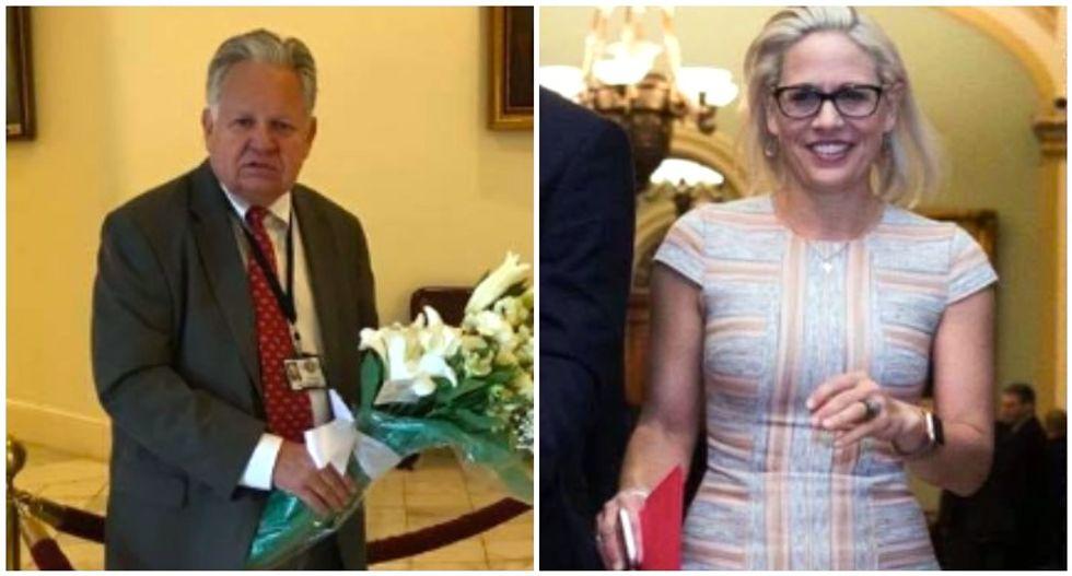 Alabama Republican bizarrely attacks Sen. Kyrsten Sinema for wearing a dress to work: 'Improperly attired'