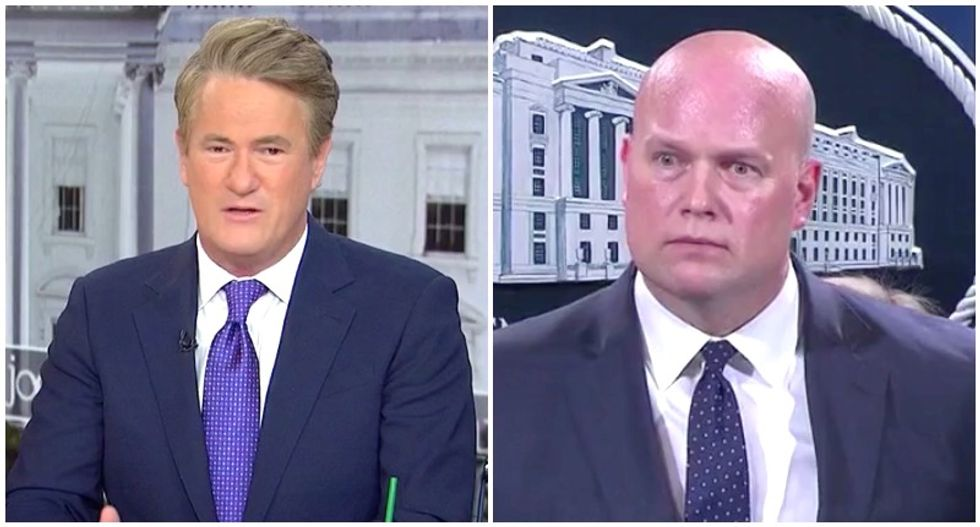 MSNBC's Morning Joe calls out 'sweating' attorney general Matt Whitaker for claiming Mueller is nearly done