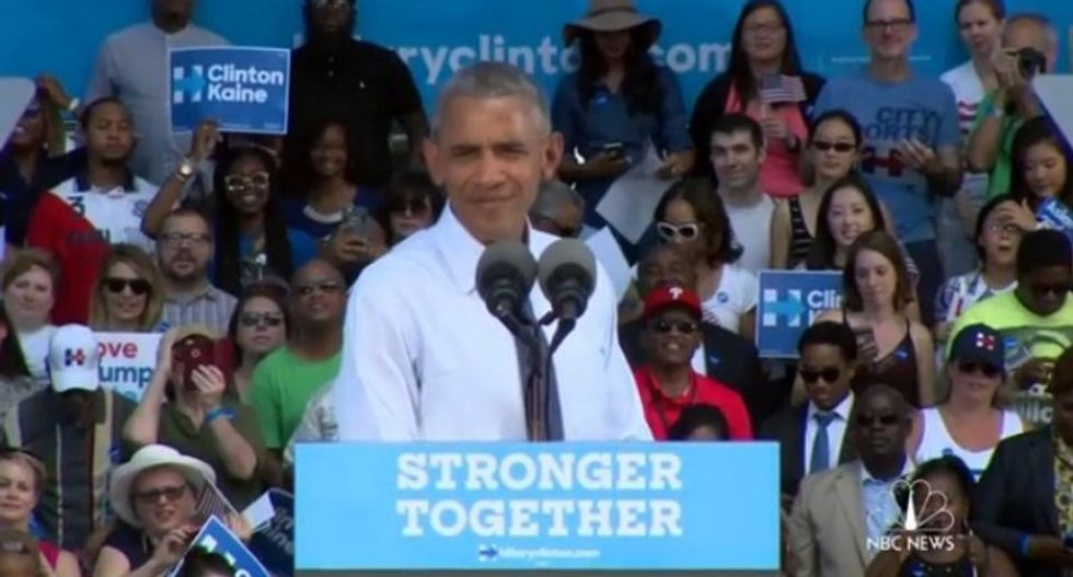 WATCH: Obama knocks Trump: 'If it's rigged, boy, it would be a really big conspiracy'