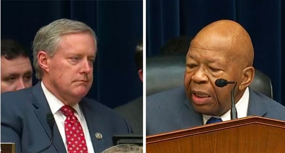 GOPer Mark Meadows hammered for remaining silent on Trump's attacks on his 'best friend' Elijah Cummings