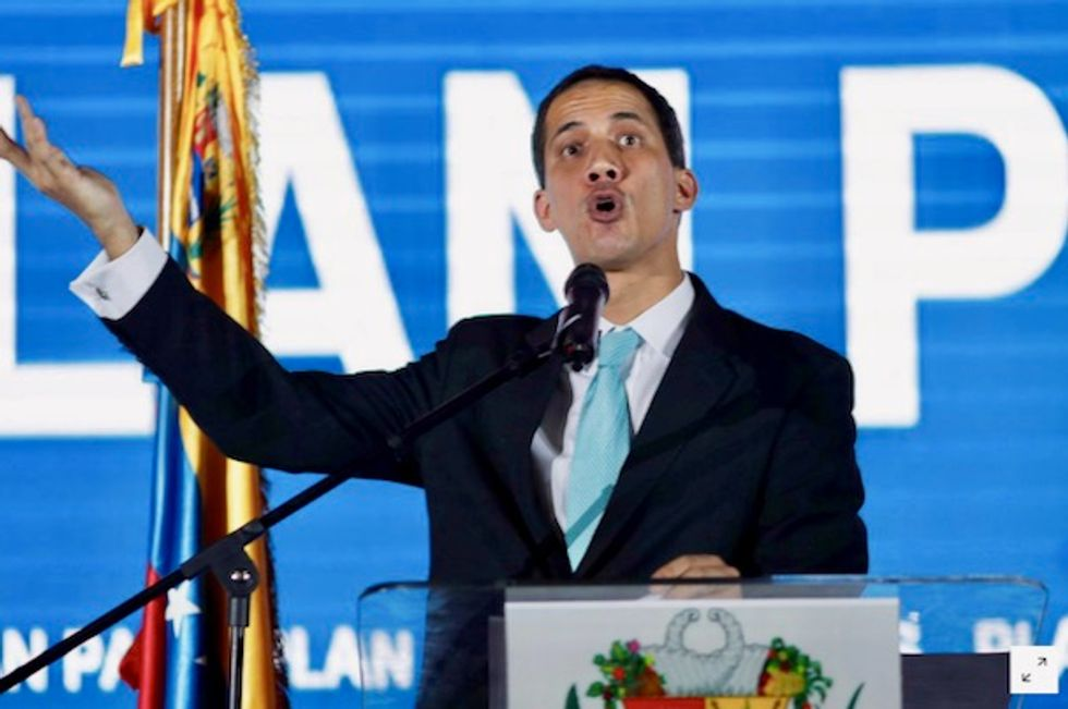 Venezuela's Juan Guaido says special police force at his house