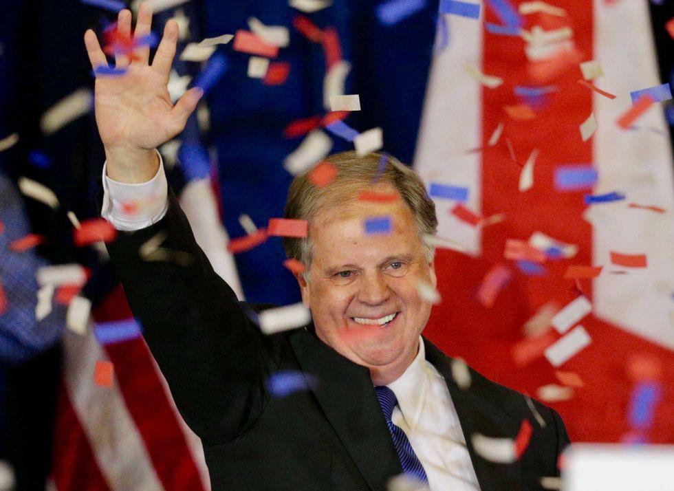 Vulnerable Democrat Doug Jones hailed as hero after declaring he will vote to convict Trump despite potential consequences