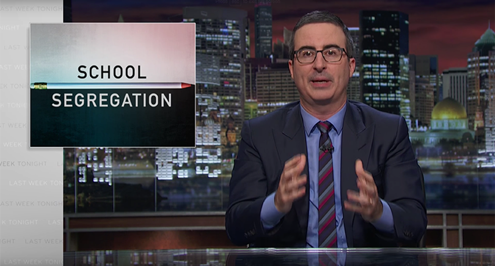 John Oliver nails parents who are re-segregating schools: You don't have to be racist to do racist things