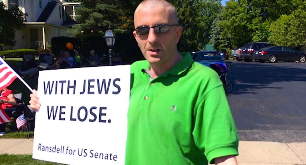 Kentucky longshot Senate candidate's 'With Jews We Lose' slogan not going over well