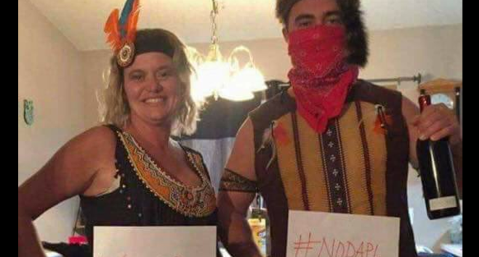 Horrifying racists mock Native American protesters with #NoDAPL Halloween costumes