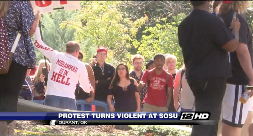 Anti-BLM protest at university turns violent after white protester accuses black people of having STDs