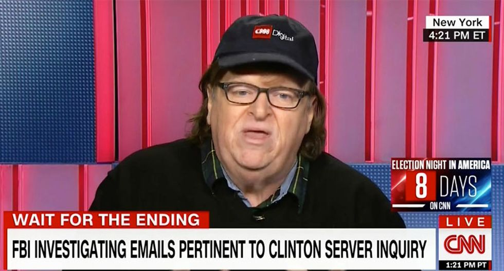 Michael Moore: I feel sorry for Hillary having to put up with 'sexual predators' like Trump and Weiner