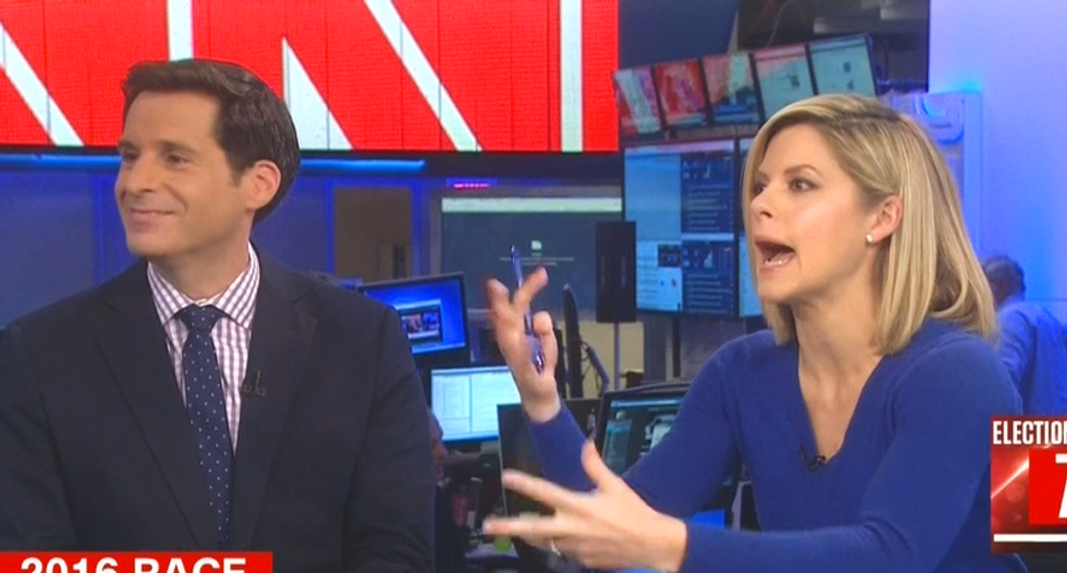 'Stop right now!' CNN fact check of Trump surrogate's attack on Clinton devolves into a screamfest