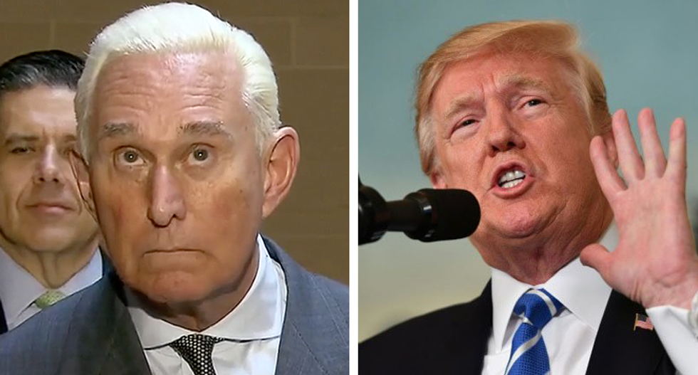Roger Stone refuses to deny Mueller has a witness who heard him talking to Trump about WikiLeaks