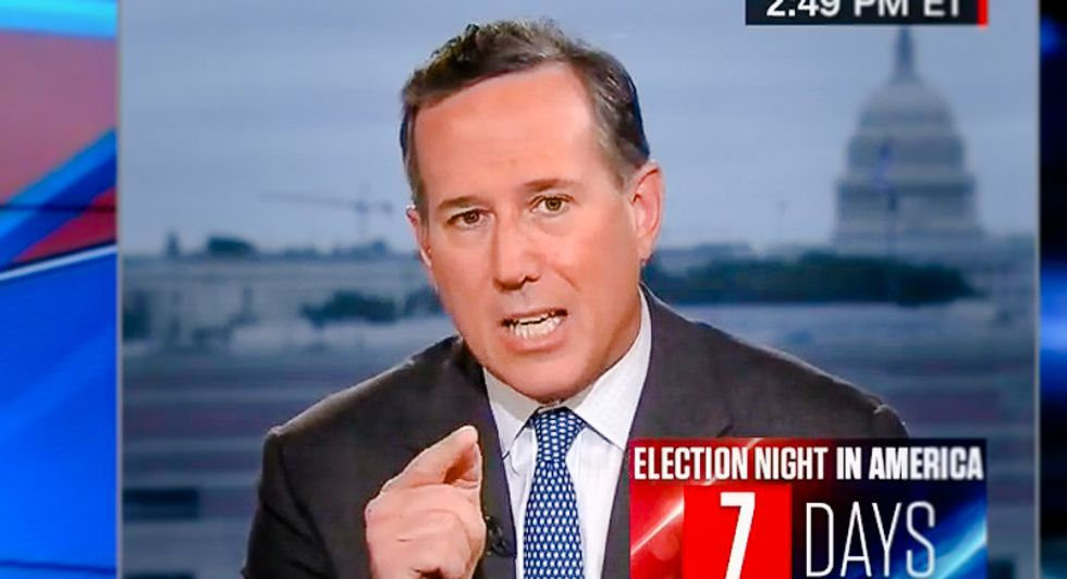 Rick Santorum throws a fit at John Kasich: Not voting for Trump is a stain on your 'character'