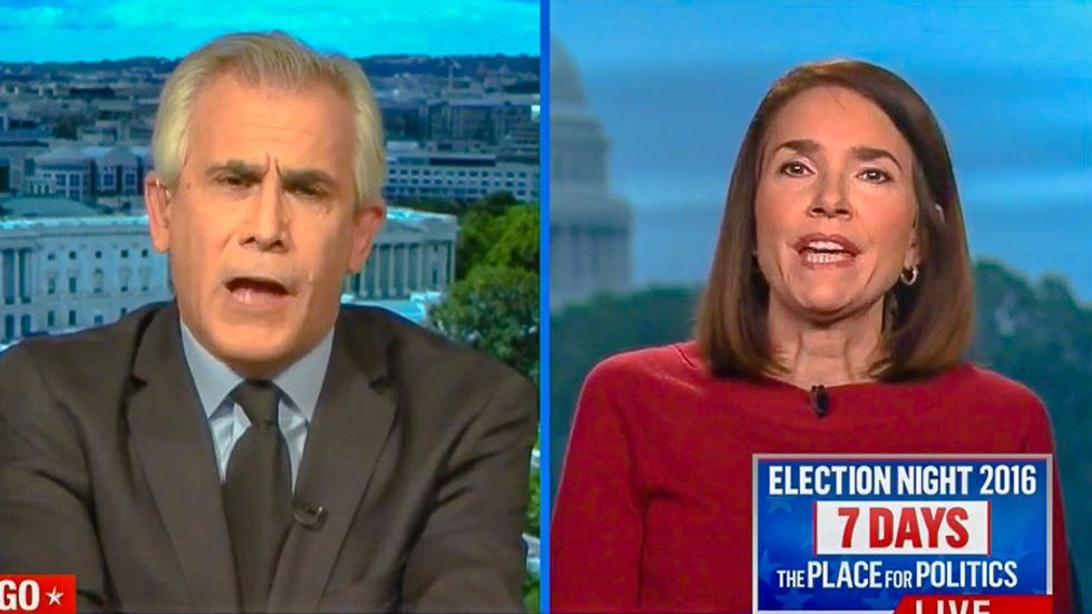 'You can't handle the truth': David Corn schools conservative reporter on Russia blackmailing Trump