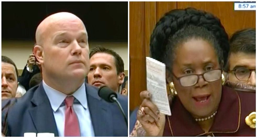 Sheila Jackson Lee rains hell on Matt Whitaker: 'We are not joking here and your humor is not acceptable'