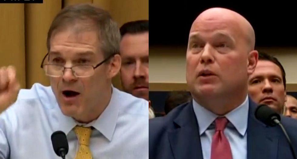 GOP's Jim Jordan goes berserk over Rod Rosenstein's redacted Mueller memo at Whitaker hearing