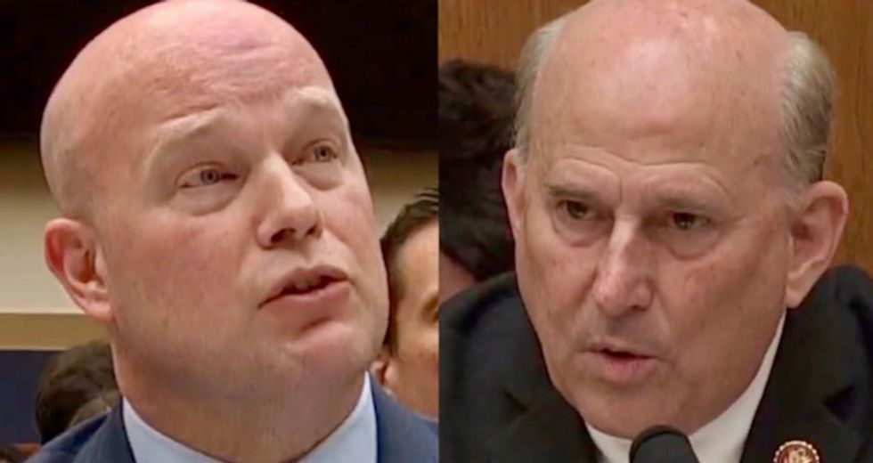 WATCH: Congressman urges Whitaker to investigate DOJ officials to ensure their 'loyalties' are to the president
