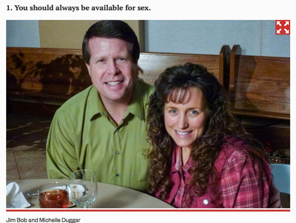 The Duggar family is part of a sex cult