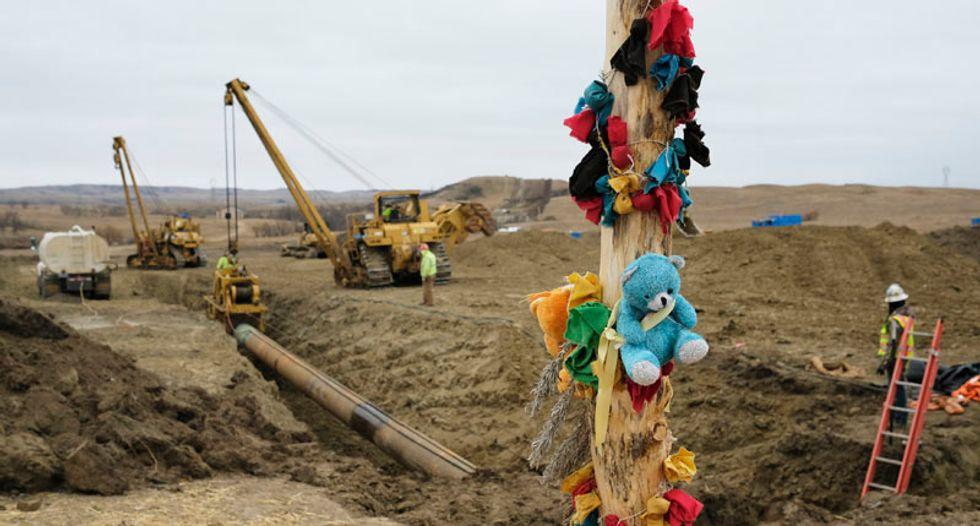 Tribe prepares to keep up pipeline protest through North Dakota winter