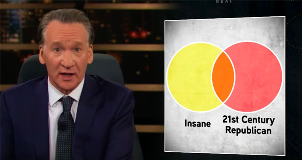 WATCH: HBO's Bill Maher brutally destroys the GOP as the 'party of the insane'